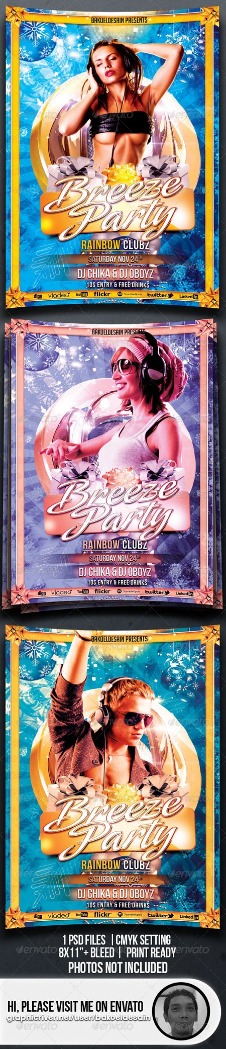 GraphicRiver - Breeze Party Flyer 3544699