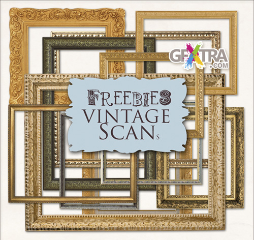Scrap kit - Golden Classic Frames and Garnish moldings