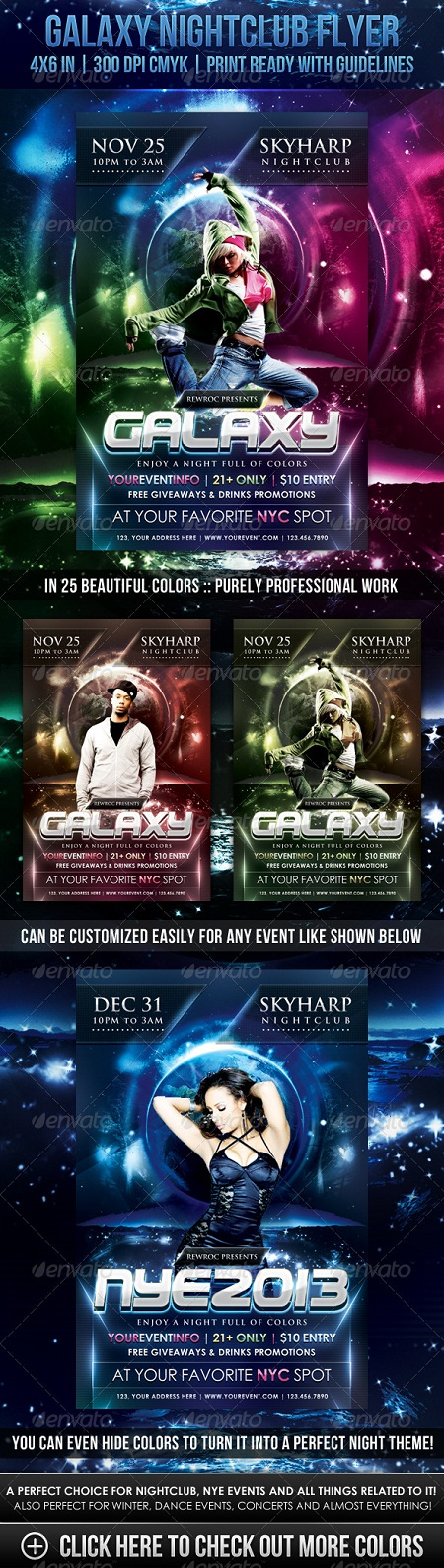GraphicRiver - Galaxy Nightclub Flyer
