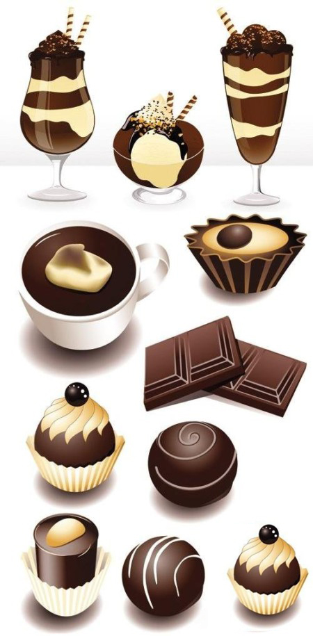 Stock vector - Chocolate Products Collection