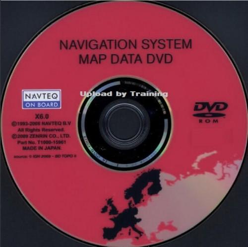 Nissan Xanavi DVD X6.0 Sat Nav 2012-2013