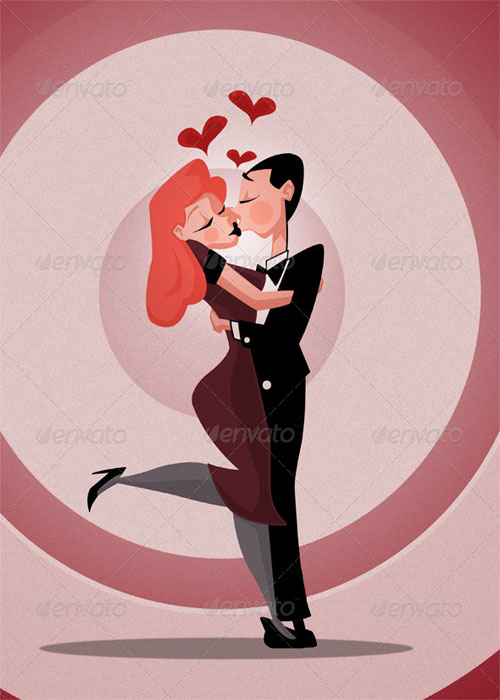 GraphicRiver - Love Cartoon