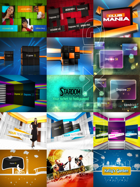 After Effects Projects Big Pack No 1