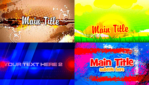 After Effects Projects Big Pack No 4