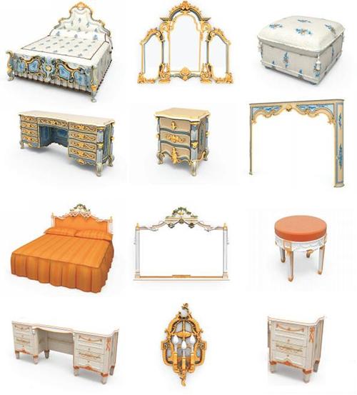 Classic Furniture 3d Model Free Download
