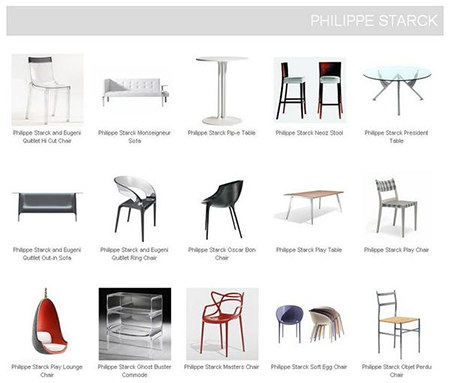 3D Models Furniture Philippe Starck