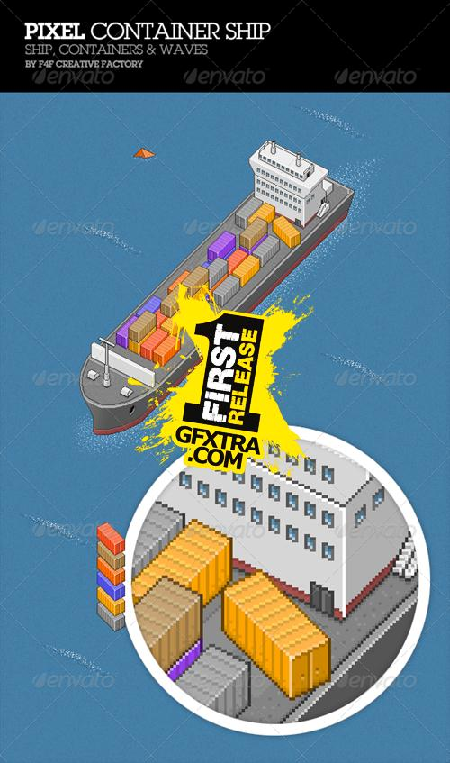 GraphicRiver - Pixel Container Ship