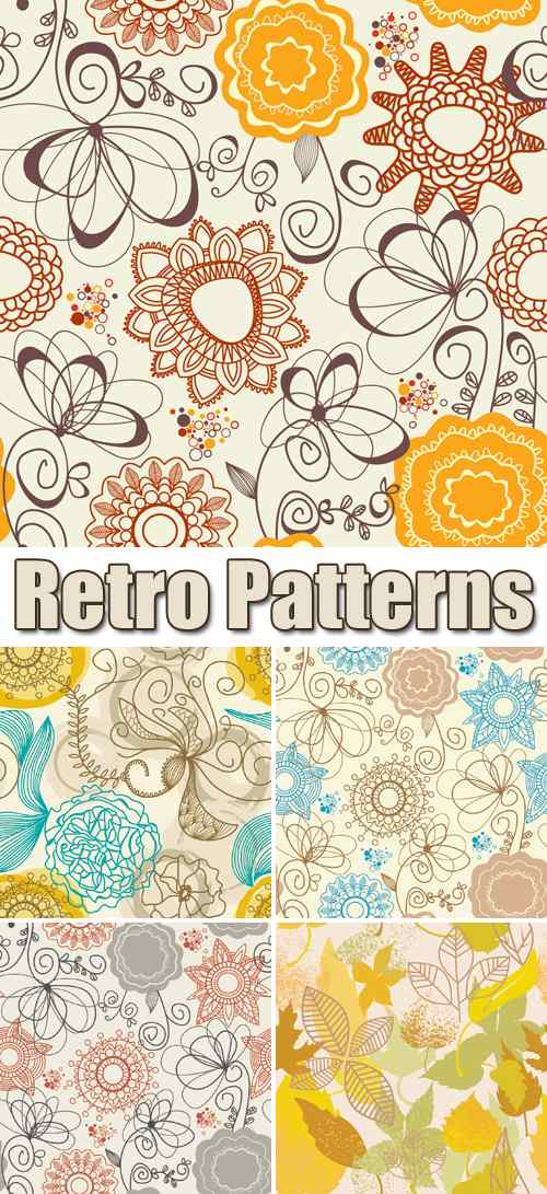 Retro Patterns Vector