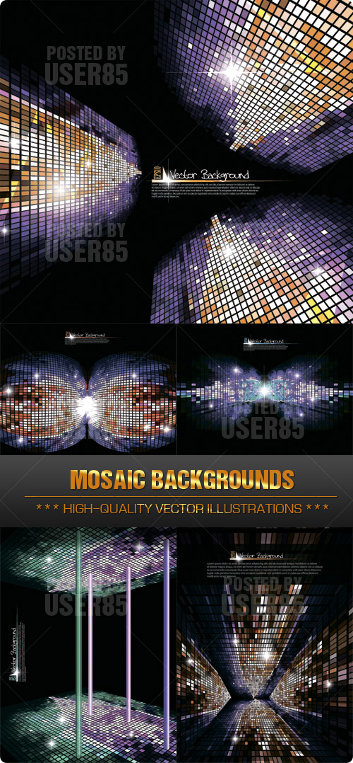 Stock Vector - Mosaic Backgrounds