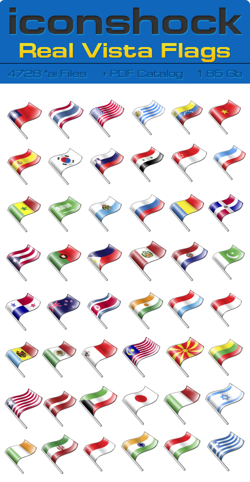 IconShok - Real Vista Flags Illustrator Sources