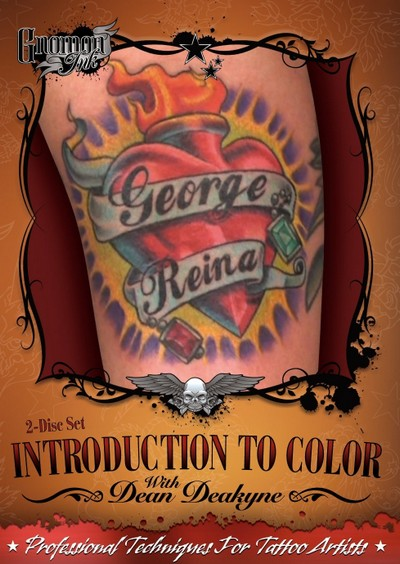colorful tattoos on black skin. Introduction to Color