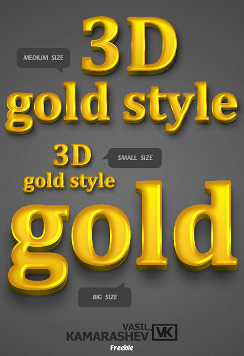 3D Gold Styles for Photoshop