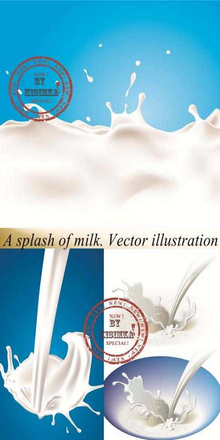 Milk Splash Psd
