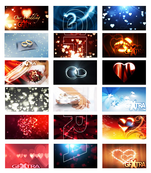 Motion Backgrounds - Love and Relationships Pack 1