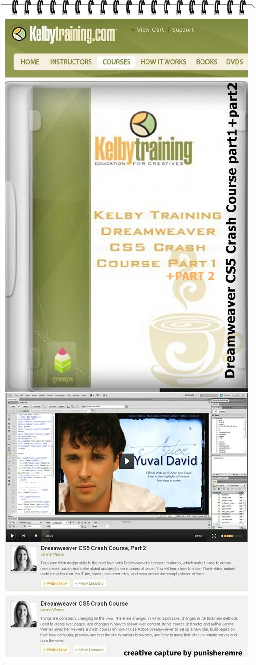 Kelby Training Dreamweaver CS5 Crash Course (2 cds)