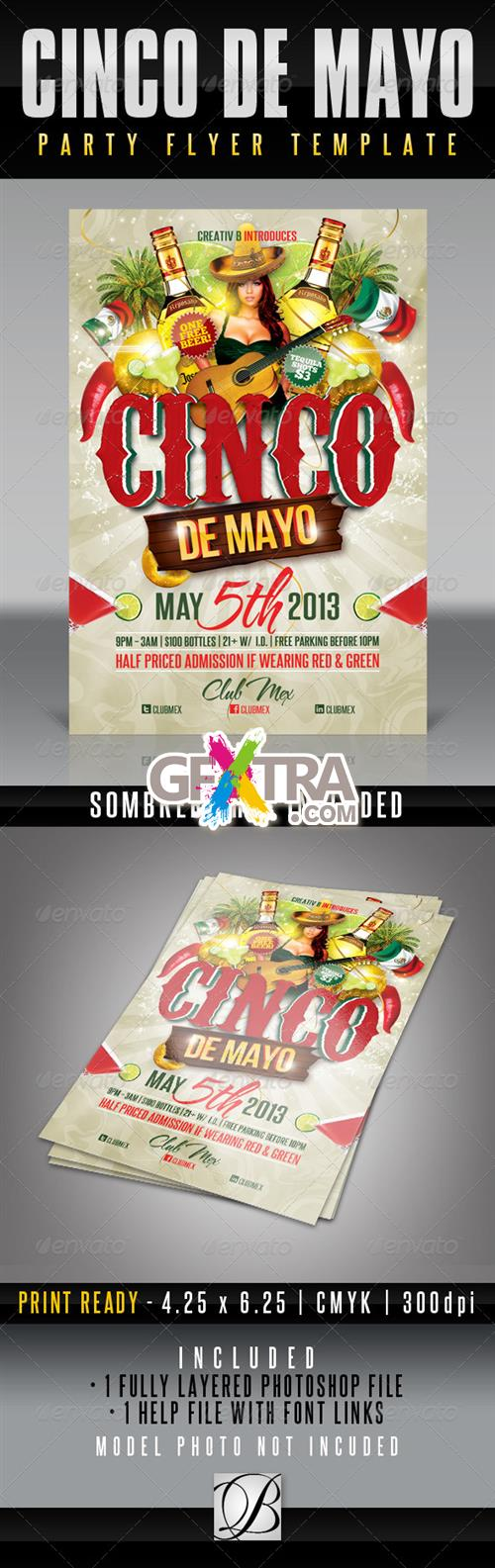 GraphicRiver - Cinco De Mayo Party Flyer Template