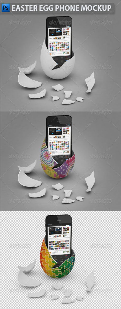 GraphicRiver - Easter Egg Phone Mockup