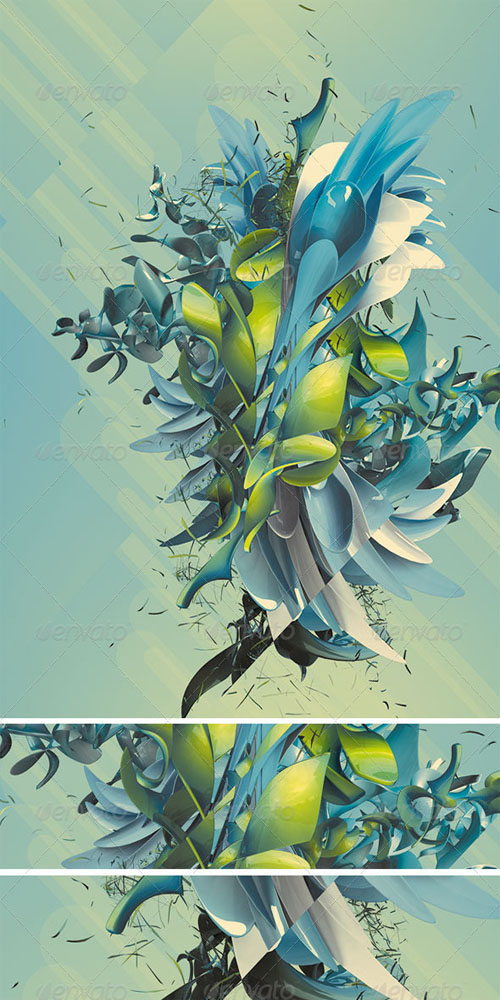 GraphicRiver - Abstract 3D Plant