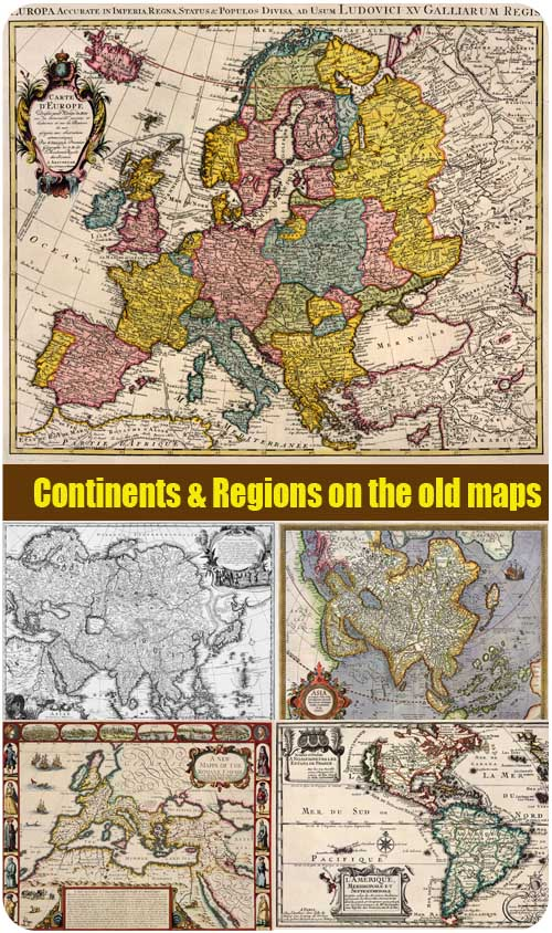 Continents & Regions on the old maps