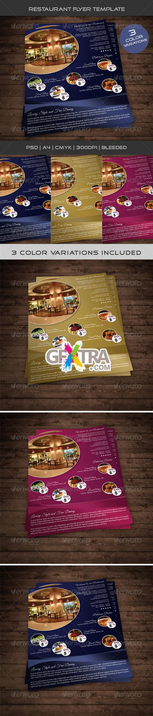 GraphicRiver - Restaurant Flyer Template 01