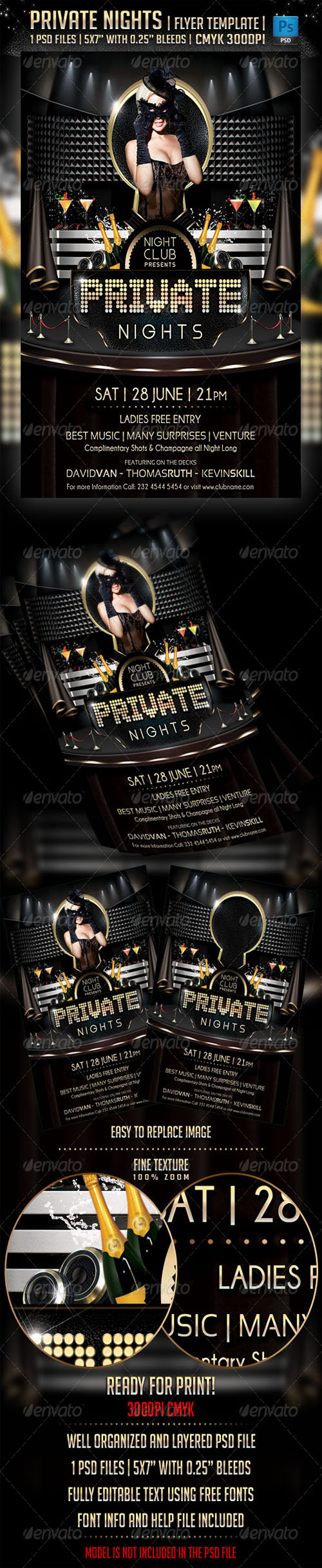 GraphicRiver - Private Nights Flyer Template