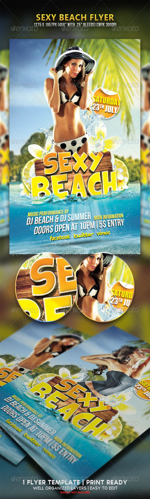 GraphicRiver - Sexy Beach Party Flyer