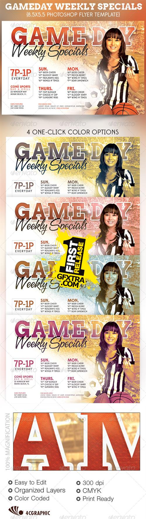 GraphicRiver - Game Day Specials Flyer Template