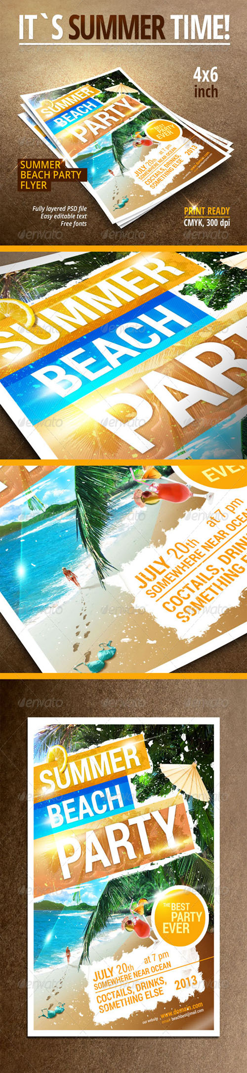 GraphicRiver - Summer Beach Party flyer