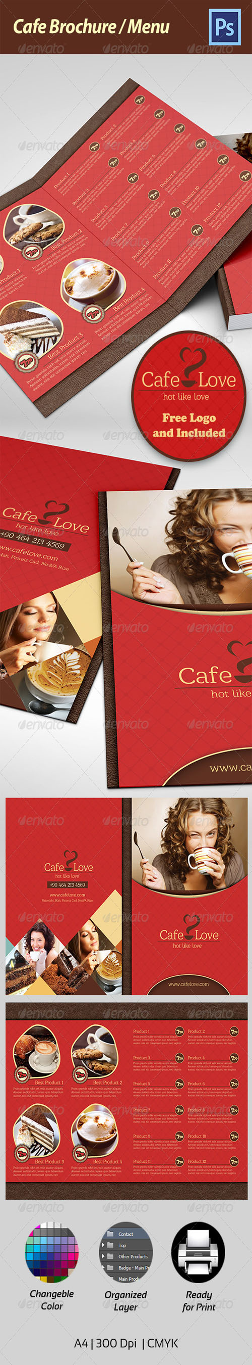 GraphicRiver - Coffee Brochure - Menu