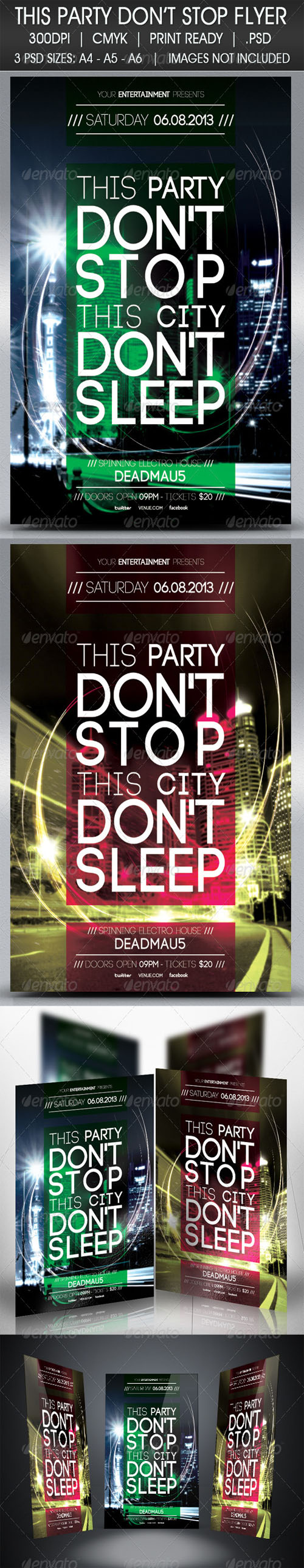 GraphicRiver - Party Don't Stop Flyer