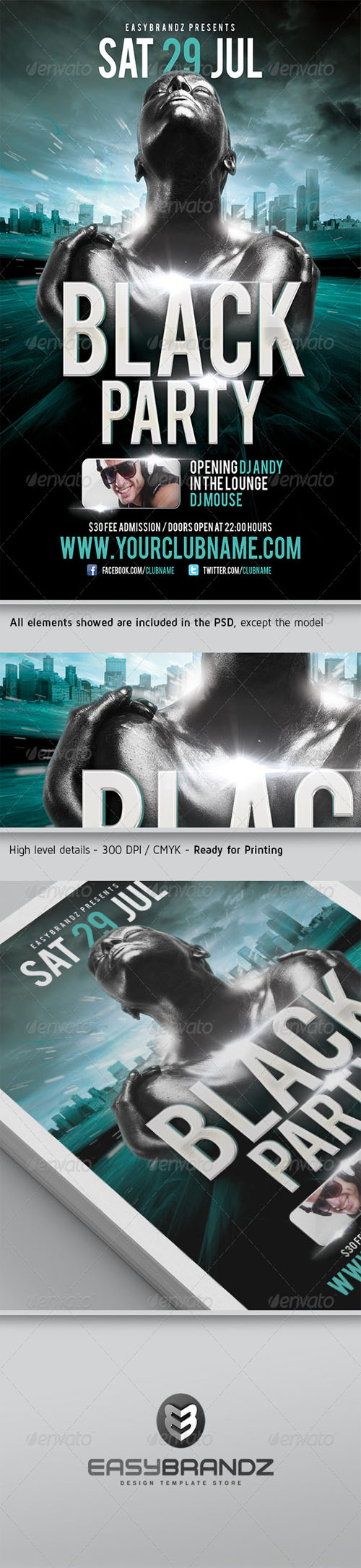 GraphicRiver - Black Party Flyer Template