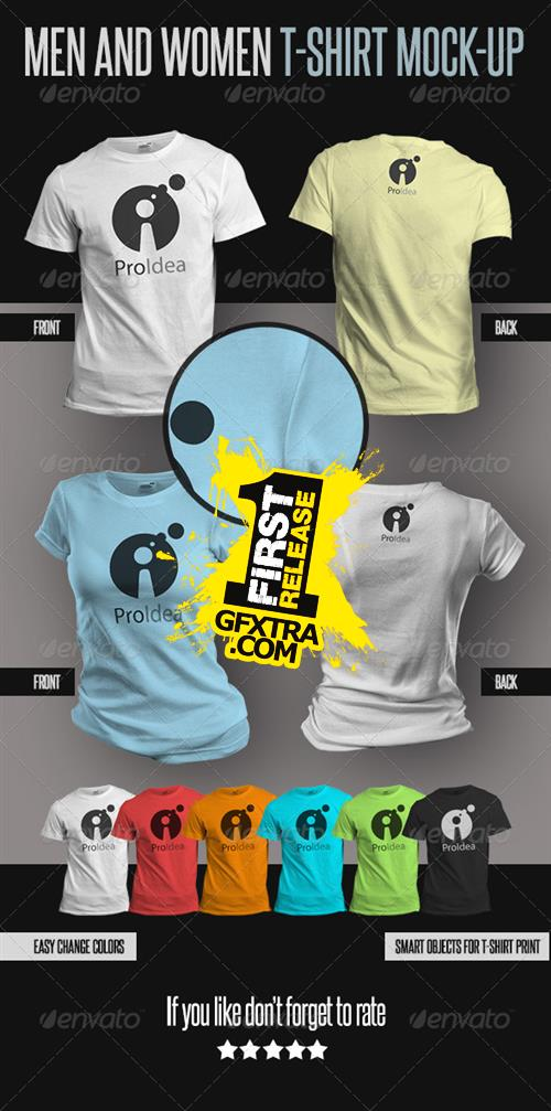 GraphicRiver - Men and Women T-Shirts Mock-Ups