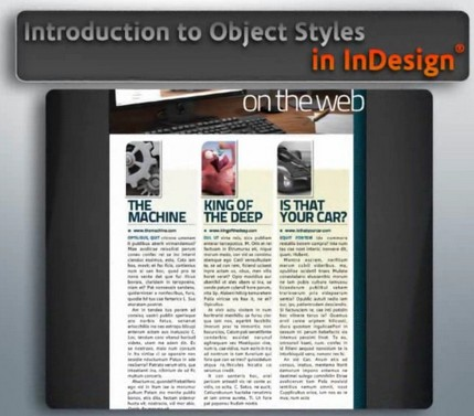 Digital Tutors Introduction to Object Styles in InDesign CS5 (1 cd)