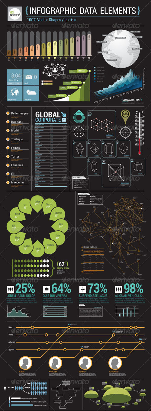 GraphicRiver - Infographic Data Elements 2427542