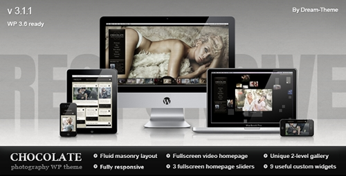ThemeForest - Chocolate WP v3.1.1 - Responsive Photography Theme