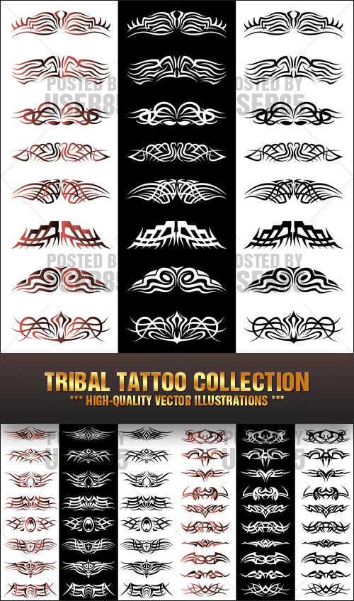 Stock Vector - Tribal Tattoo Collection