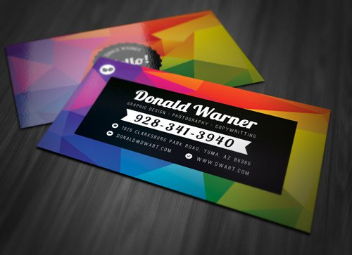 Color Business Card - PSD template