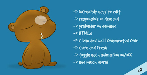 ThemeForest - Kuma - Animated 404 not found HTML template - RIP