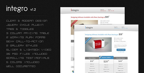 ThemeForest - Integro v1.2 - A Corporate Landing Page - FULL