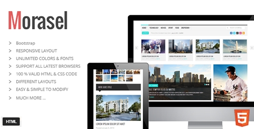 ThemeForest - Morasel - Responsive News and Magazine HTML Theme - RIP