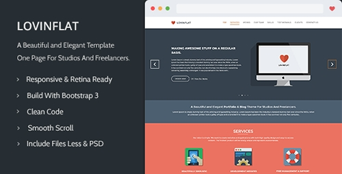 ThemeForest - Lovinflat - One Page Bootstrap 3 - RIP