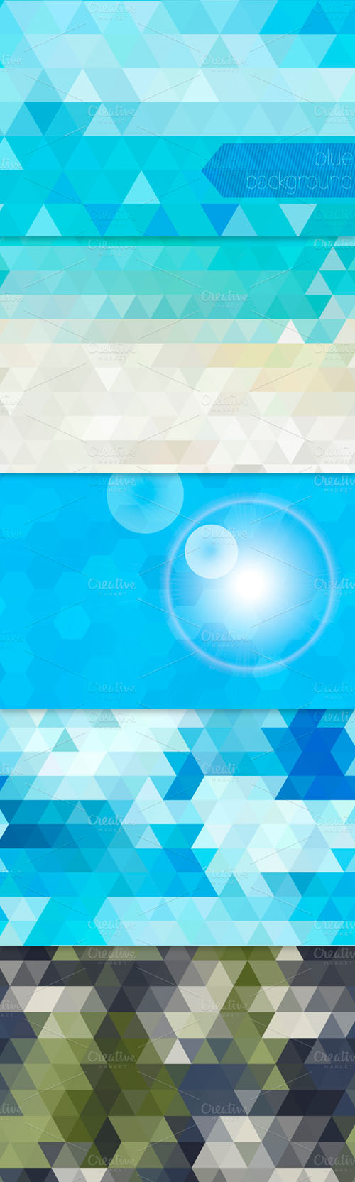 Geometric Abstract Vector Backgrounds