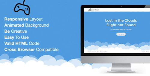 ThemeForest - Lost - Responsive 404 Error Template - RIP