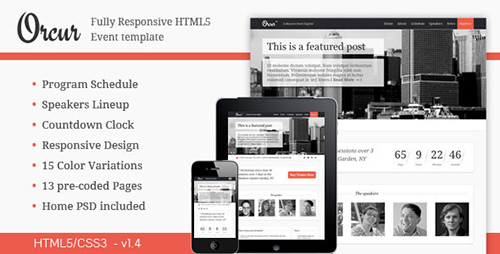 ThemeForest - Orcur - Multi-purpose event, Responsive Template - FULL