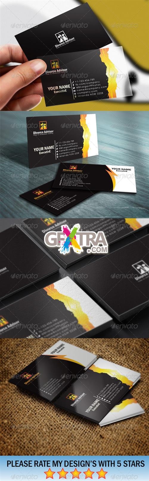 GraphicRiver - Divorce Advisory Business Card Templates