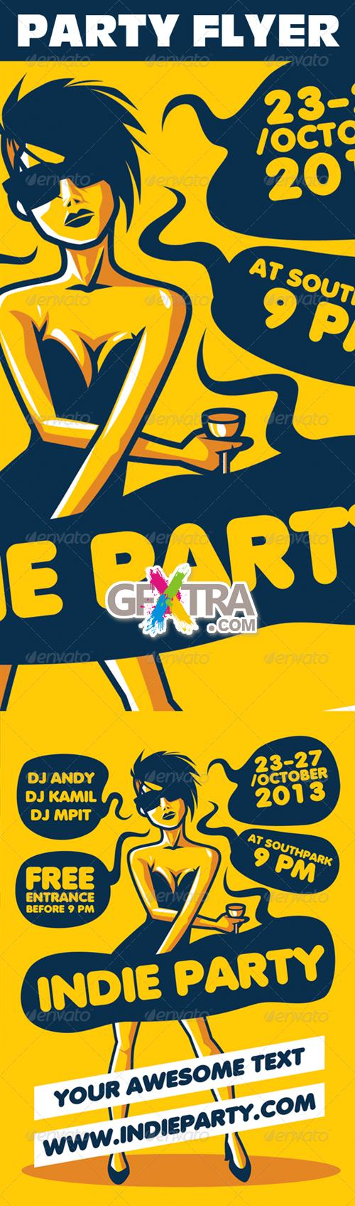GraphicRiver - Indie Party Urban Flyer