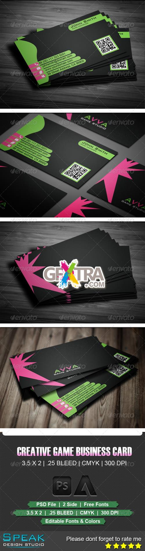 GraphicRiver - Creative Green Game Business Card
