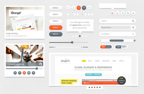 Clean Elegant Responsive User Interface PSD Template