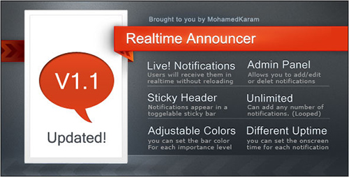 CodeCanyon - Realtime Announcements bar /no reloading required v1.1