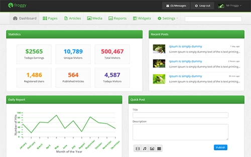 WrapBootstrap - Froggy - Awesome Admin Panel